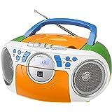 Kassettenradio mit CD • UKW-Radio • Boombox • CD-Player • Stereo Lautsprecher • AUX-Eingang • Netz- / Batteriebetrieb • Tragbar • Bunt • Dual P 70