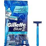 Gilette BlueII Plus-engångsblad för män, 8 stycken