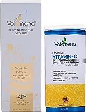Volamena Combo of Eye Serum and Proactive Vitamin-C Skin Serum