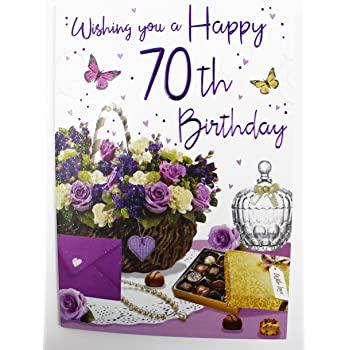 Happy 70th Birthday Greeting Card For Ladies Women Friend Quality Verse Age Her