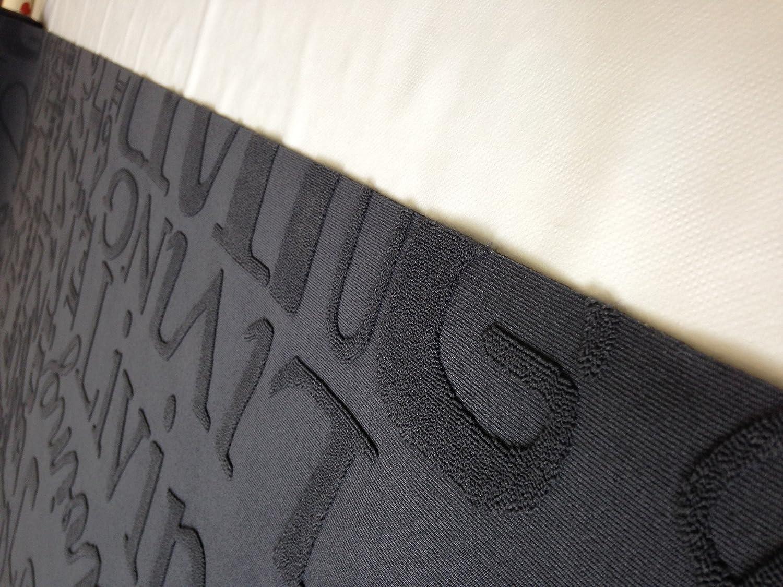 Tappeto cucina living design scritte nero grigio lavabile in ...