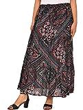 COTTON BREEZE Women Maxi Skirt (FP635_Multicolored_Free Size)