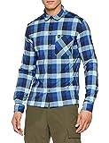 Odlo Herren Shirt l/s Nikko Hemd Energy Diving Navy/Nile Blue/Check, L