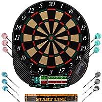 Ultrasport elektrisches Dartboard, mit und ohne Türen, Dartautomat für bis zu 16 Spieler, inklusive Abwurfline, 12…