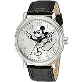 Disney Men's W001862 Mickey Mouse Analog Display Analog Quartz Black Watch