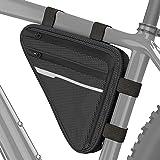 Velmia Fahrrad Dreiecktasche Wasserdicht - Fahrrad Rahmentasche, Triangeltasche ideal für Fahrradschloss, Werkzeug, Regenjack