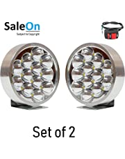 SaleOn™ 12 LED (7 X 7 cm) Round Fog Light for Motorcycle Jeep Car Bike Etc(Set of 2)-691
