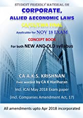 Corporate, Allied and economic Laws for CA final Nov 2018 Exam (Old and New syllabus)
