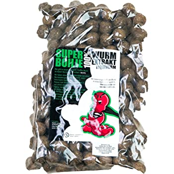 SUPERWURM 1 kg SuperBoilie 20mm - Wurmboilies - Spezial Boilies mit Wurm-Extrakt