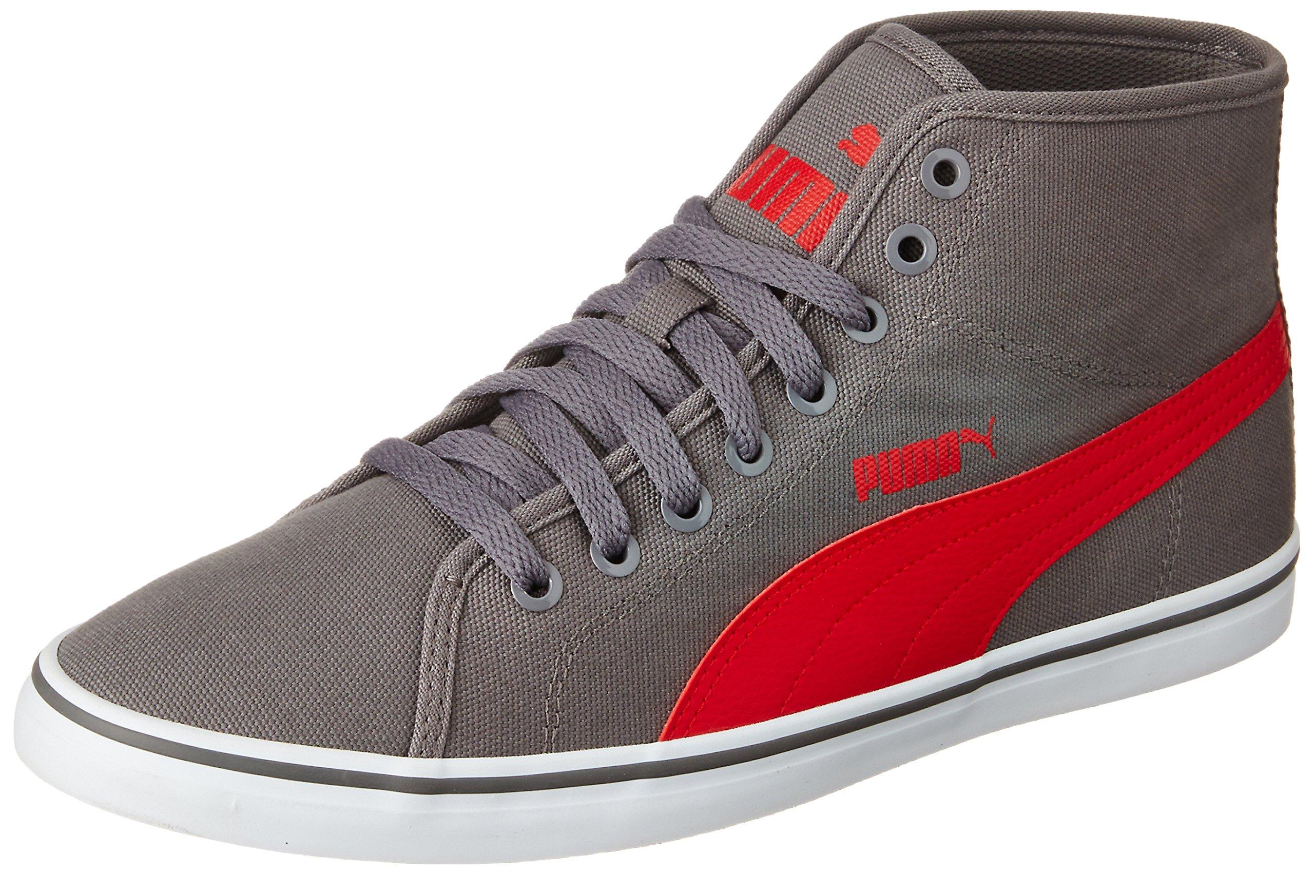 Sneakers Puma men's elsu v2 midcv grey and red sneakers