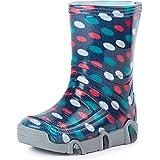 Ladeheid Botas de Agua Zapatos de Seguridad Calzado Unisex Niños SwkBW