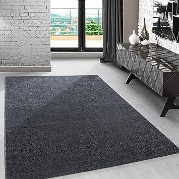 Amazon.de: Modern kurzflor Teppich unifarben einfarbig ...