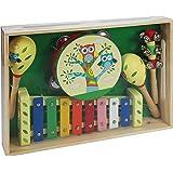 A B Gee Gee-LXS0167 Lxs0167 Instrument de Musique en Bois avec Ensemble de Motif Chouette