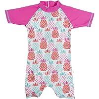 Muta Termica Manica corta bambina ANTI-UV Pineapple, 2 anni.