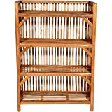 Wooden Bamboo 4-Tier Books & Newspapers/Gardening Planter/Shoes & Slippers Shelves Rack Closet Organizer Cabinet Utility Stor