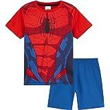 Marvel Spiderman Pijama Niño, Pijamas Niños Cortos, Merchandising Oficial Regalos para Niños y Adolescentes Edad 2-14 Años