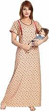 SOULEMO WOMENS PREMIUM FEEDING NIGHTY /MATERNITY DRESS (ALPINE FABRIC) 600
