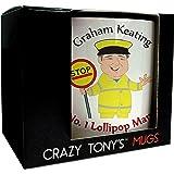 No.1 Lollipop Mug Mug Personalised Mug Thank You Lollipop Man Gift, Design 1