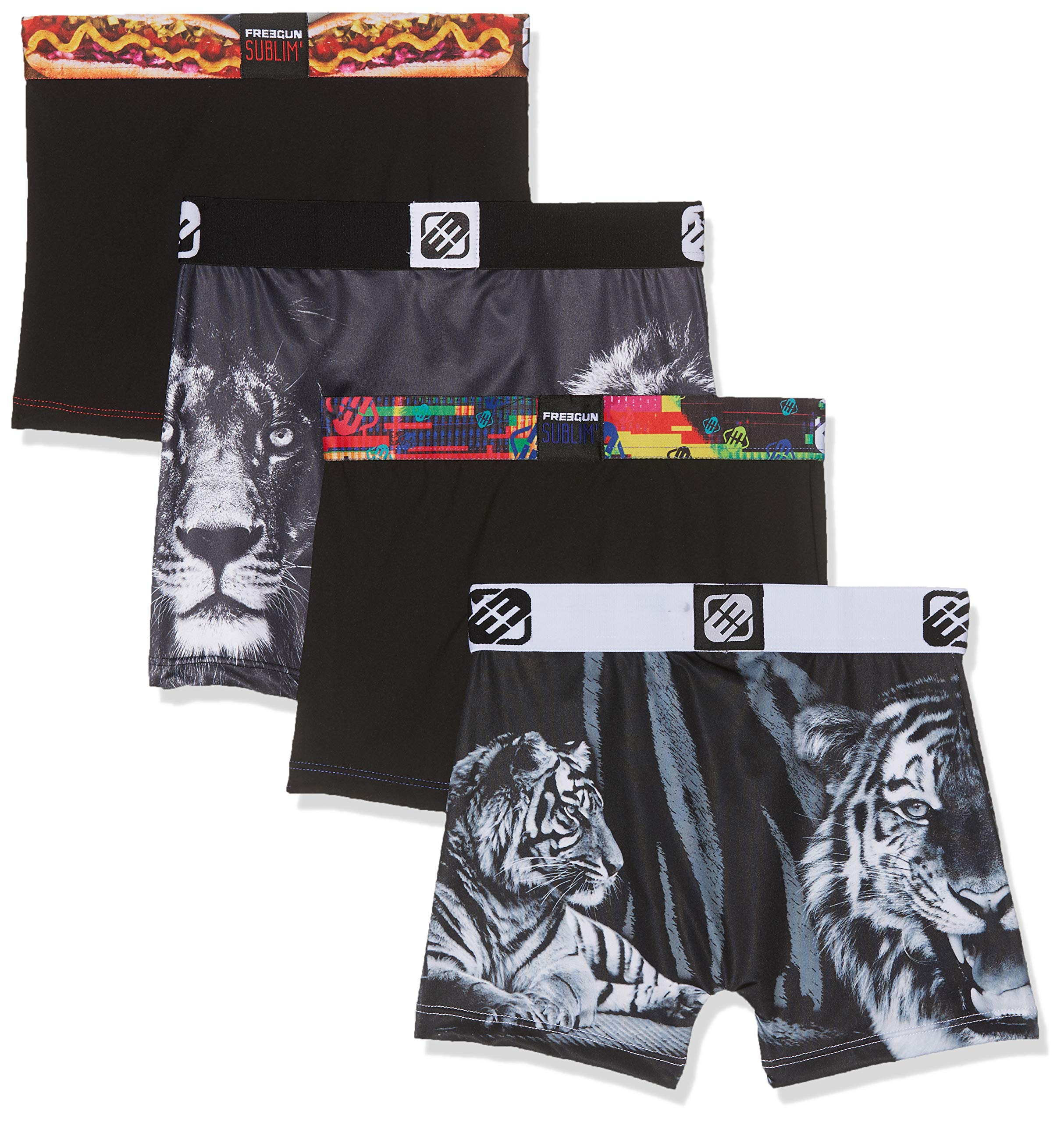 FREEGUN Boxer Pantis (Pack de 4) para Niños