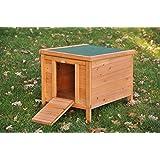 """nanook maison cage clapier pour petits animaux """"Choupinou"""" - 42 x 51 x 43 cm (LxPxH) couleur bois naturel"""