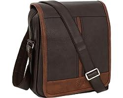 Storite Stylish PU Leather Sling Cross Body Travel Office Business Messenger One Side Shoulder Bag for Men Women(30x24x5.5cm)