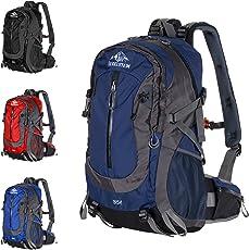 GEIGELSTEIN® 35 Liter Bergsteiger Rucksack inklusive Raincover, mit GRATIS Bergsicherheits Guide ALS E-Book, für Berg-Sport, Trekking, Wandern, Mountain-Bike, Outdoor und Reise