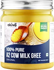 A2 Cow Ghee from Grass-Fed Desi Sahiwal Cow's Milk, 500 ml - 100% Pure - Made from Curd by Traditional Vedic Bilona Padati Me