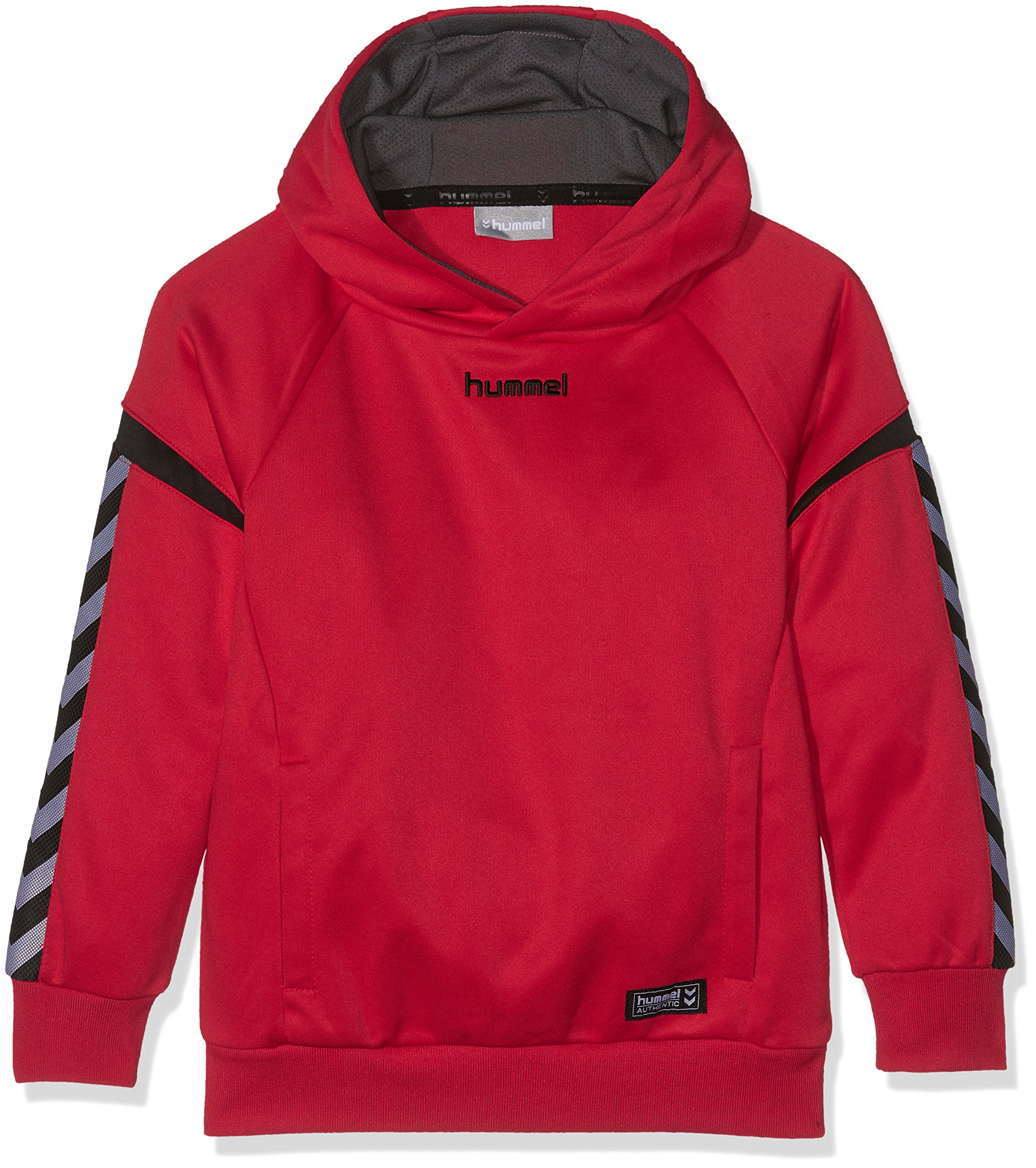 Hummel Auth. Charge Poly Hoodie – True Red, Hummel Authentic Charge Poly Hoodie, multic