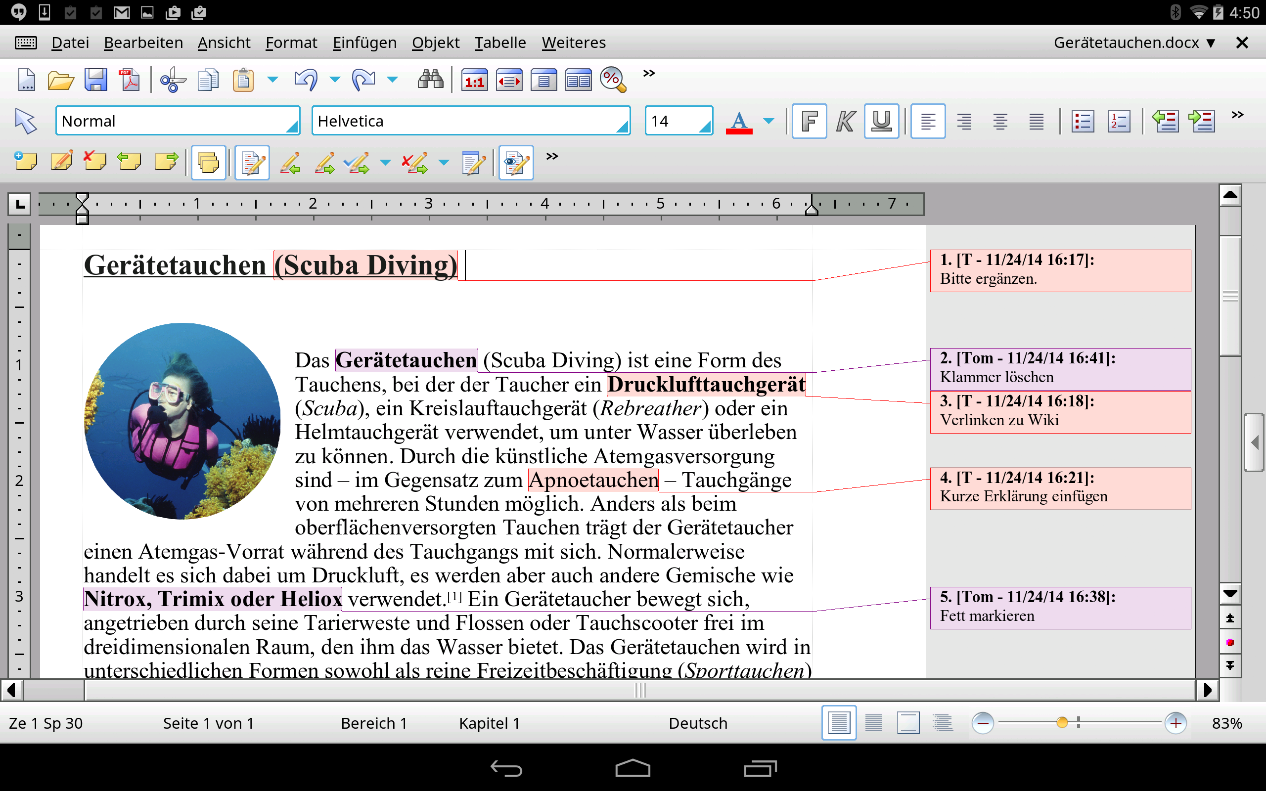 TextMaker HD Basic Screenshot