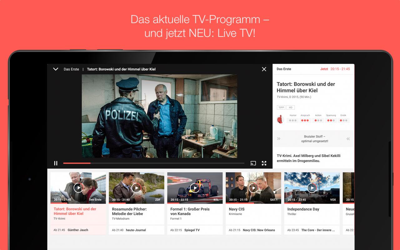 TV SPIELFILM - TV-Programm mit LIVE TV Screenshot