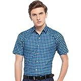 Arihant GHPC Checkered 100% Cotton Half Sleeves Regular Fit Formal Shirt for Men