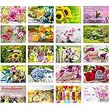Edition Seidel Set 20 exklusive Premium Geburtstagskarten mit Umschlag. Glückwunschkarte Grusskarte zum Geburtstag. Geburtsta