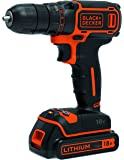 BLACK+DECKER BDCDC18-QW Perceuse-Visseuse sans fil - 18 V - 1,5 Ah - 30 Nm - 650 trs/min - 1 batterie
