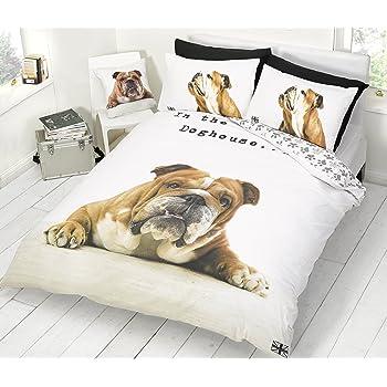 homely bettbezug kissenbezug 1 platz und halb bulldog. Black Bedroom Furniture Sets. Home Design Ideas
