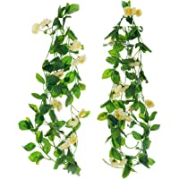 BS AMOR Artificial Plants   Wall Hanging   Speacial Ocassion Decoration   Home Decor Party   Office   Festival Decorative (White)