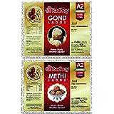 Shree Radhey Gir Cow ghee Shree Radhey Home Made Gond and Methi laddu - 400 gm + 400 gm (Combo)