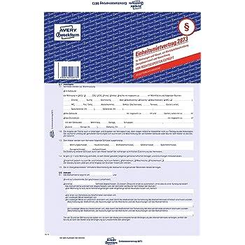 Avery Zweckform 2873 Mietvertrag Für Wohnungen Und Häuser A4