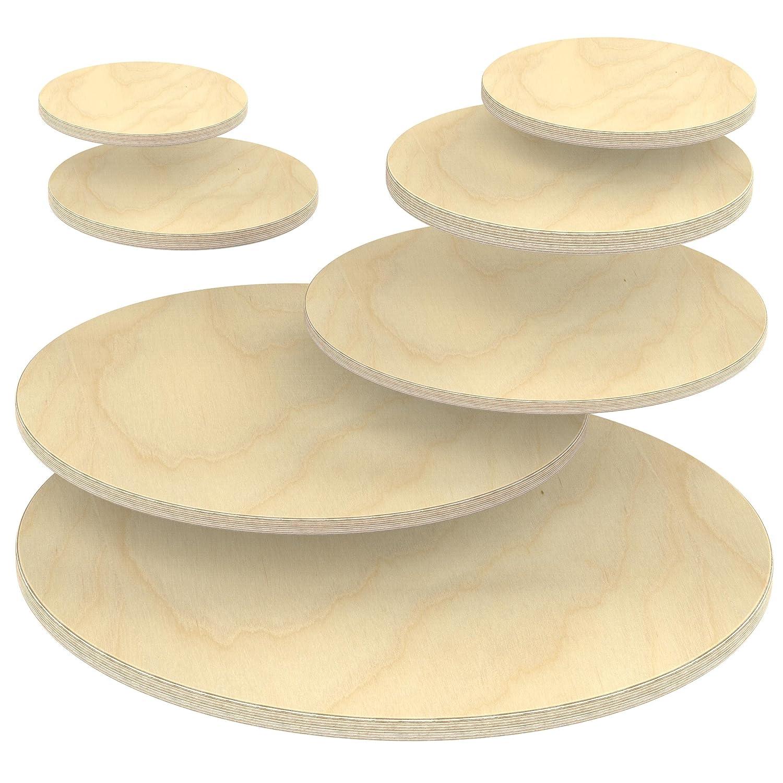 verwendbar AUPROTEC Multiplexplatte 30mm rund /Ø 200mm Holzplatten von 20cm-148cm ausw/ählbar runde Sperrholz-Platten Birke Massiv Multiplex Holz Industriequalit/ät als Tisch-Platte Bistro-Tisch etc