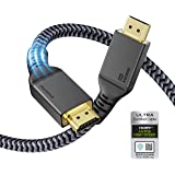 8K HDMI 2.1 Cable 5M, Maxonar (Certified) Ultra HD 48Gbps High Speed 8K60 4K120 eARC RTX 3090 HDR10 4:4:4 HDCP 2.2&2.3 Dolby