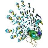 Christmas Concepts® 81cm (32 Pouces) Papier Peint en métal coloré avec Un Talon Ouvert en Plumes de Queue - Décoration de Jar