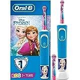 Oral-B Kids Spazzolino Elettrico Ricaricabile, 1 Manico con Personaggi Disney Pixar Frozen, 2 Testine di Ricambio, per…