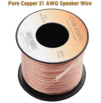 buy cablesetc pro series 21awg pure oxygen free stranded copper speaker wire swg 15 meters online at low prices in india amazonin