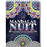Coloriage Adulte Mandala de Nuit Anti-Stress: Le Premier Cahier de Coloriage Mandala avec Papier Noir Artiste et Reliure Spir