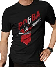Zupaco Men's Round Neck Cotton T-Shirt Paul Pogba and Manchester United Fan Art Black Colour (Medium - ZUPWCD08_M)