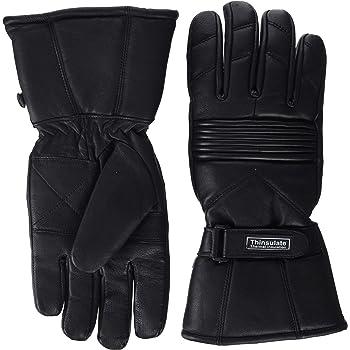 b04de2941036af Herren Thermo-Handschuhe Leder Wasserdicht Innenfutter Für Motorrad &  Winter Thinsulate - M