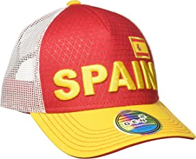 World Cup Soccer Spain Boys Jersey Hook Flag Snapback Cap, Red, One Size