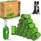 BLSPE Dog Poop Bags Pet Dog Supplies 240 Bag 16 Rolls With Dispenser and Waste Dog Poop Bag Leash Clip for Doggie Cats Puppy