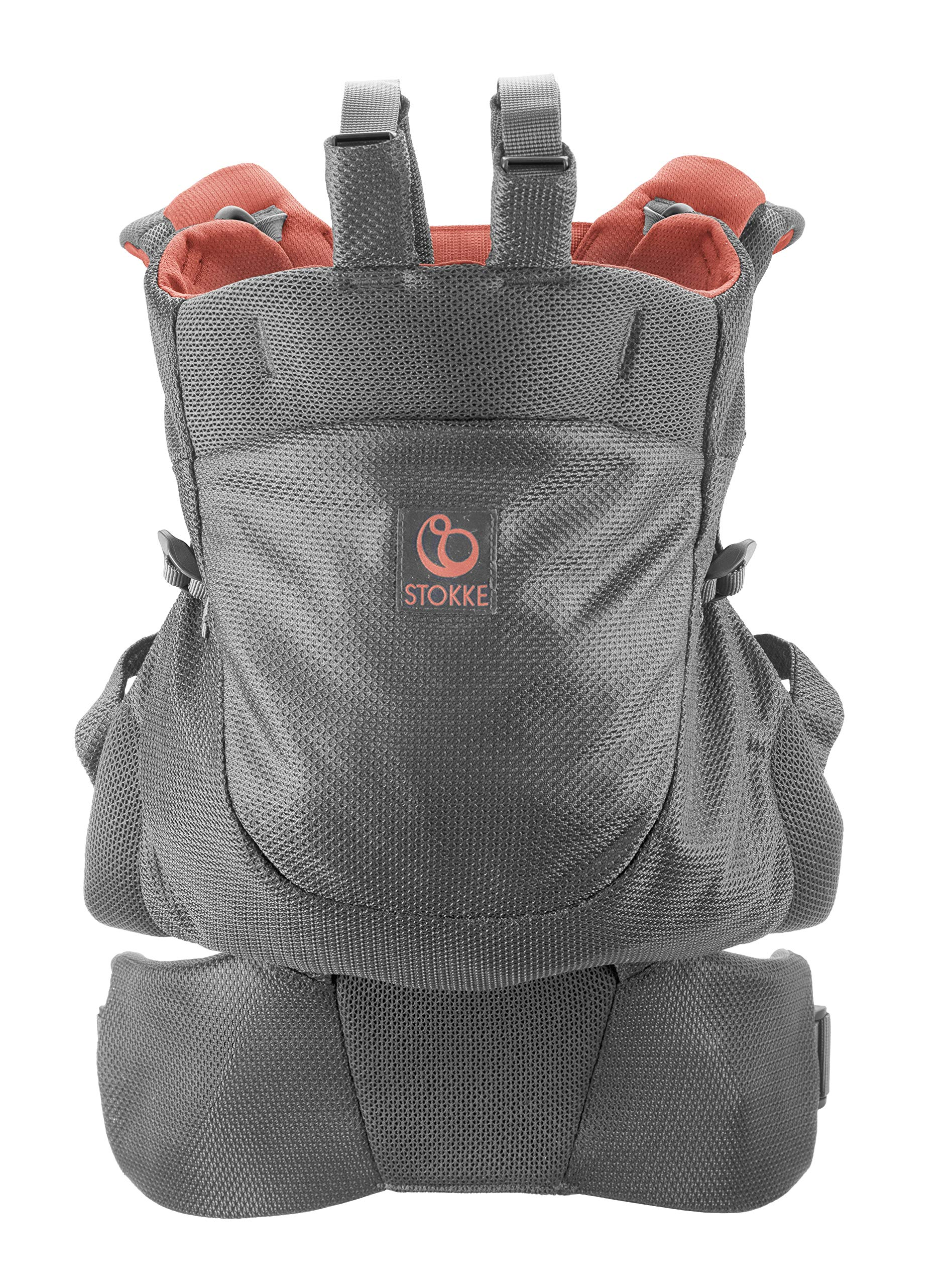 Stokke MyCarrier Back Carrier - Baby Carrier for Toddlers - Accessories for 3 in 1 Organic Cotton Carrying System - Ultralight & Ergonomic - Color: Coral Mesh Stokke With the MyCarrier wrap newborns feel sheltered when being close to the parents. From 9 months onwards the world can be discovered comfortably with the supplementary back carrier Research confirms that babies are much calmer and cry less when they feel the body heat and movements of their parents - the STOKKE MyCarrier provides this safe and secure feeling The 3 in 1 baby carrier allows three different carrying positions - on the stomach, either facing the parent or outwards and on the back with the back carrier suitable from 9 months 1