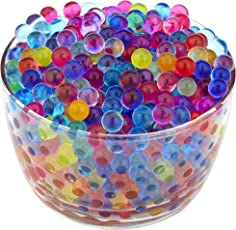 Kuhu Creations Supreme Colorful Pearl Shape Water Absorbing Crystal Mud Soil Aqua Balls. (10 Small Bags, Mix Color Bags)