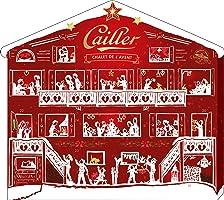 Cailler Adventskalender, Weihnachtskalender für Kinder und Erwachsene, mit feinster Schweizer Schokolade gefüllt, dekoratives Chalet, 1 x 200g